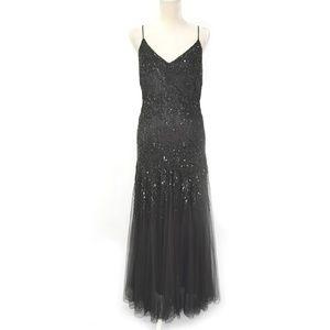 STENAY Vintage Black Beaded Mermaid Ball Gown